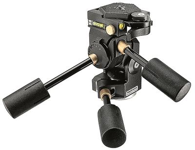 Manfrotto 3D Super Pro 3-way tripod head with safe