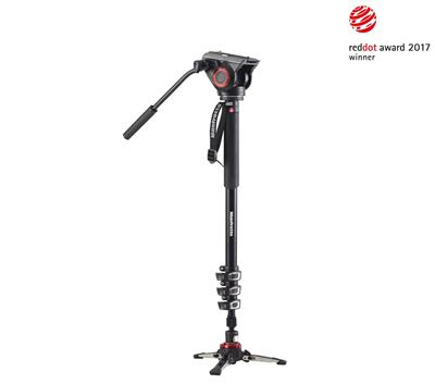 Manfrotto XPRO 4 section video monopod w Fluid hea