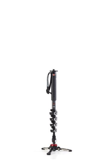Manfrotto XPRO Carbon 5 section fluid video monopo