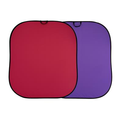 Manfrotto Plain Collapsible 1.8 x 2.15m Red/Purple