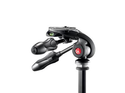 Manfrotto 3-way photo head with compact foldable h
