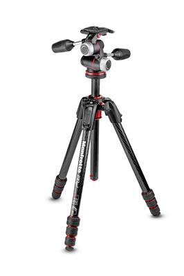Manfrotto 190go! MS Carbon Tripod kit 4-Section wi