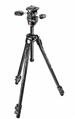 Manfrotto 290 XTRA CARBON Kit, CF 3 sec. tripod wi