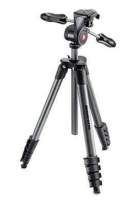 Manfrotto Compact Advanced aluminium tripod with 3